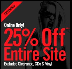 ONLINE ONLY! 25% OFF*** ENTIRE SITE