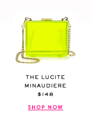 The Lucite Minaudiere at $148. Shop Now.