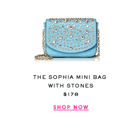 The Sophia Mini Bag with Stones at $178. Show Now.