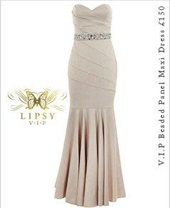 V I P Beaded Panel Maxi Dress