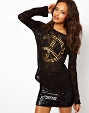 ASOS Jumper With Studded Peace Sign