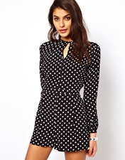 ASOS Playsuit in Spot Print