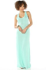 The Eco Racer Maxi Dress in Eco True Holiday Blue