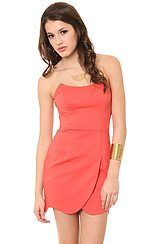 The Hi-Res Curved Dress in Red