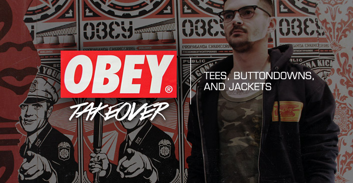 Obey: Tees, Buttondowns, and Jackets