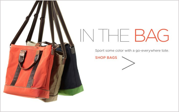 IN THE BAG | Sport some color with a go-everywhere tote. SHOP BAGS
