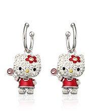 Hello Kitty Lollipop Pierced Earrings