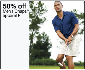 50% off Men's Chaps® golf apparel. Shop now.