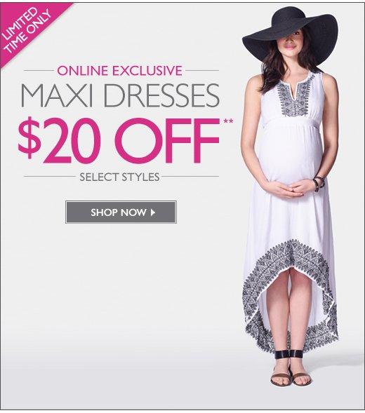 $20 Off Maxi Dresses