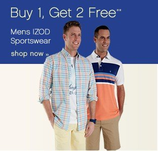 Buy 1, Get 2 Free. Mens Izod Sportswear. Shop now.