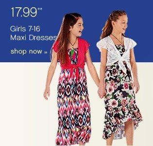17.99 Girls 7-16 Maxie Dresses. Shop now.