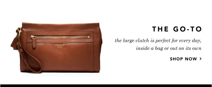 leather large clutch
