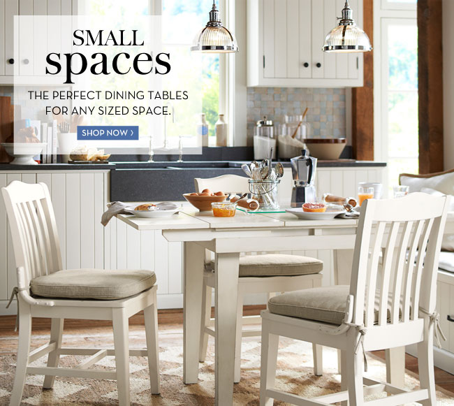 SMALL SPACES - THE PERFECT DINING TABLES FOR ANY SIZED SPACE - SHOP NOW
