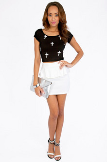 Cross My Heart Crop Top $19