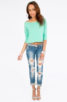 Color My World Cropped Sweatshirt $21