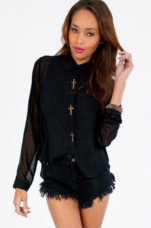 Holy Buttons Blouse $33