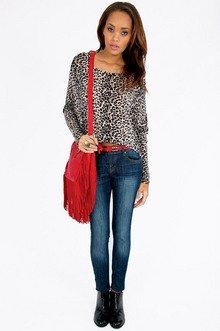 Leopard Dolman Top $22