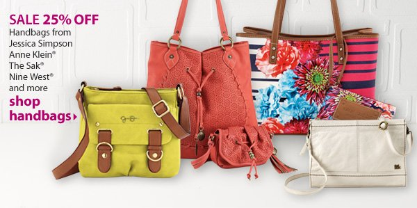 SALE 25% OFF. Handbags from Jessica Simpson, Anne Klein®, The Sak®, Nine West® and more. Shop handbags.
