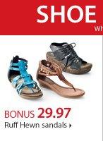 BONUS 29.97 Ruff Hewn sandals. Shop now.