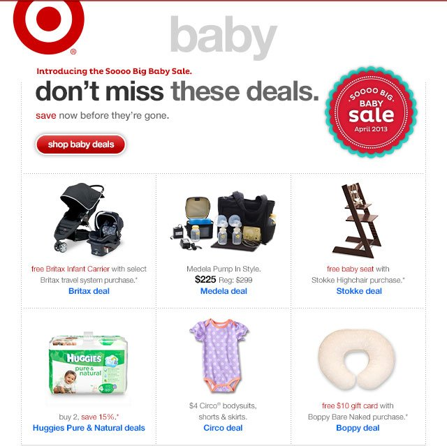 Soooo big Baby Sale. DON'T MISS THESE DEALS.