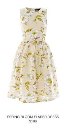 Spring Bloom Flared Dress
