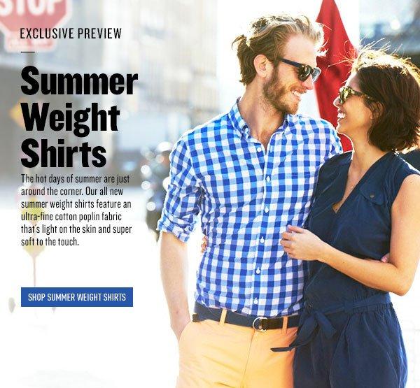 Summer Weight Shirts