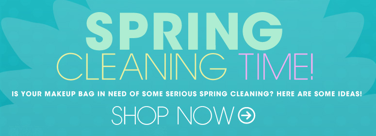 Spring Cleaning  Time! Is your makeup bag in need of some serious spring cleaning? Here are some ideas! Shop Now>>