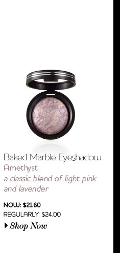 Baked Marble Eyeshadow - Amethyst - classic blend of light pink and lavender - Now: $24.00