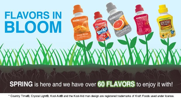 Flavors In Bloom: Spring is here and we have over 60 flavors to enjoy it with!
