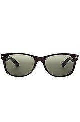 The 55mm New Wayfarer Sunglasses in Black