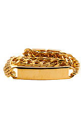 The ID Bracelet in Gold