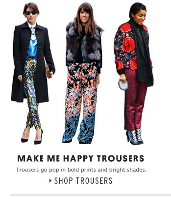 MAKE ME HAPPY TROUSERS - Shop Trousers