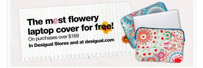 The most flowery laptop cover for free!