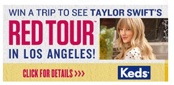 Win a trip to see Taylor Swift's Red Tour in Los Angeles.