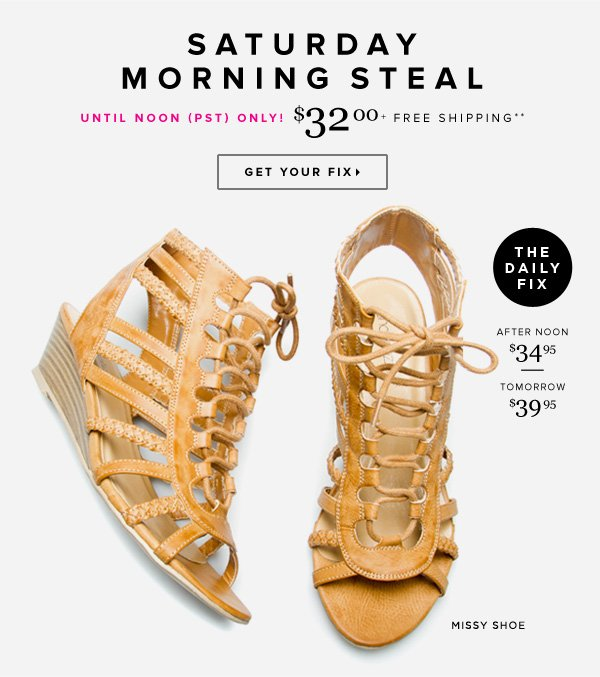 Saturday Morning Steal! Snag This Sandal Before the Price Goes Up      Shop Missy >