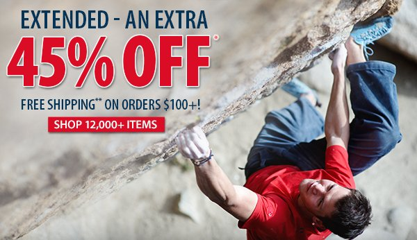 An extra 45% OFF over 12,000 items!