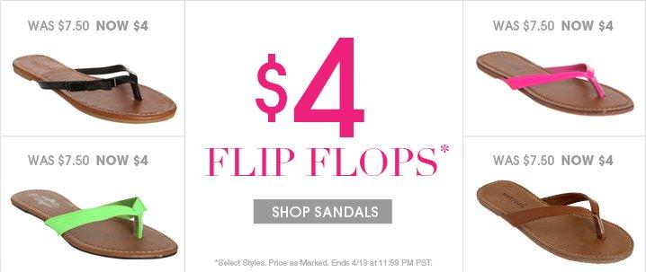 $4 Flip Flops - Shop Flip Flops