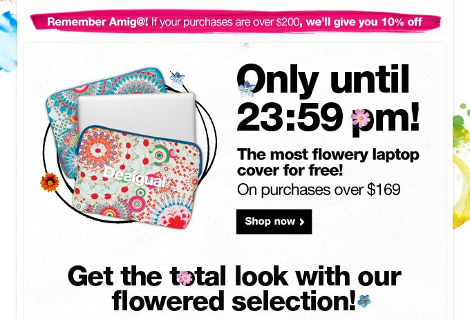 Get the total look with our flowered selection!