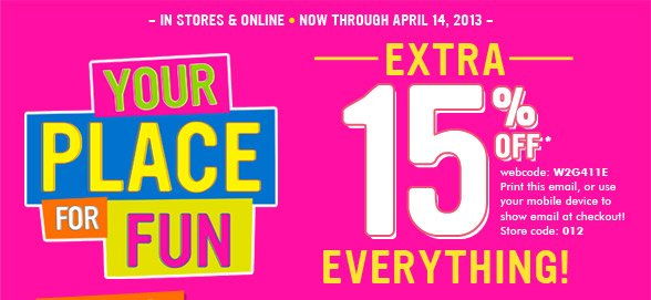 Enjoy 15% Off Everything