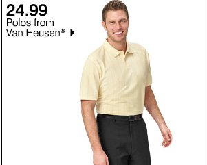 24.99 Polos from Van Heusen®. Shop now.