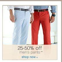 25-50% off men's pants. Shop now.