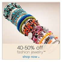 40-50% off fashion jewelry. Shop now.
