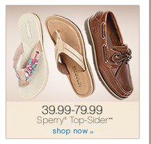 39.99-79.99 Sperry® Top-Sider. Shop now.