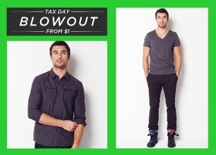 Blowout: Men's Apparel from $1