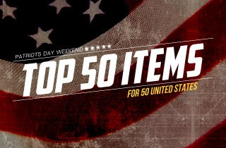 Top 50 Items For 50 United States