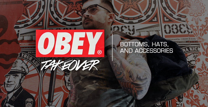 Obey: Bottoms, Hats, and Accessories