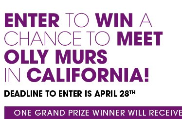 Enter To Win A Chance To Meet Olly Murs