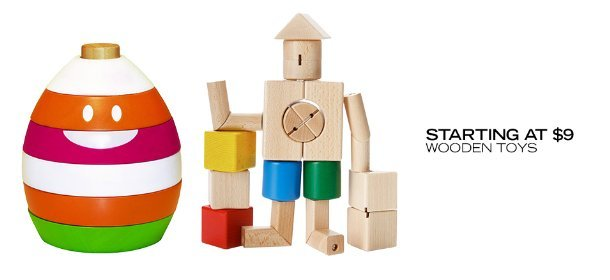 STARTING AT $9: WOODEN TOYS, Event Ends April 18, 9:00 AM PT >