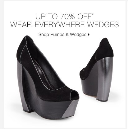 Up To 70% Off* Wear-Everywhere Wedges