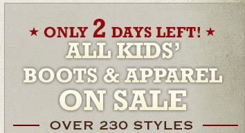 All Kids Boots & Apparel on Sale